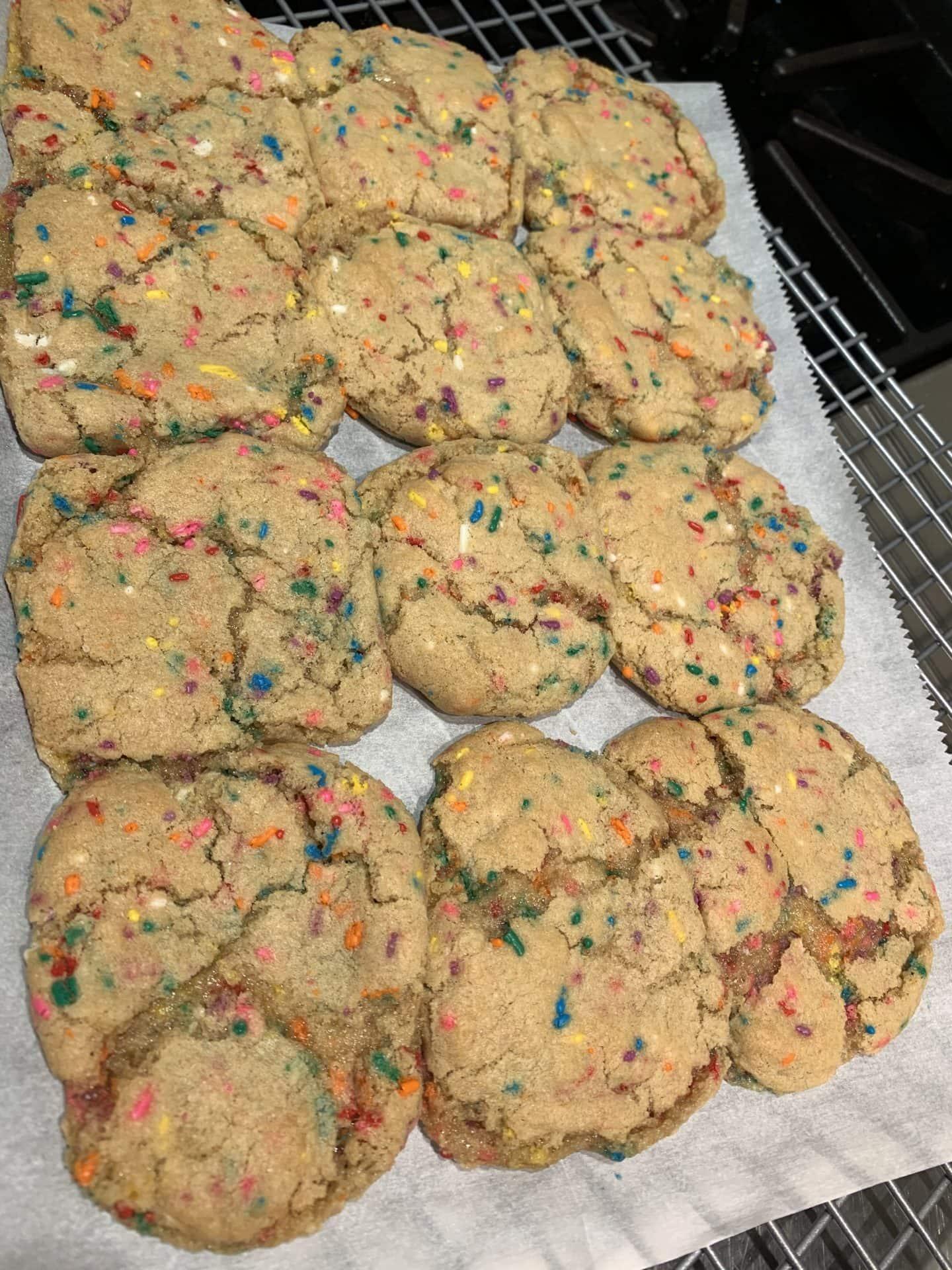 chewy funfetti cookie recipe