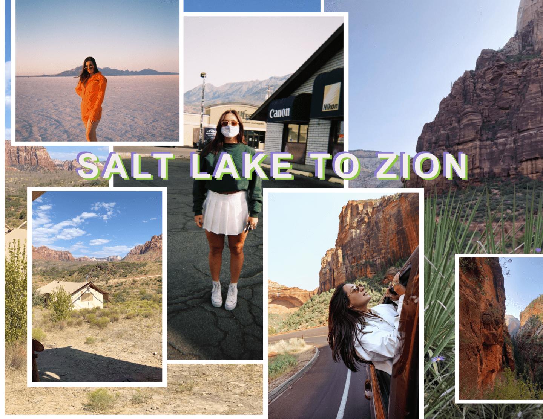 salt lake city to Bonneville salt flats WYOMING + UTAH ROAD TRIP ITINERARY :: 10 DAYS layne fable Zion