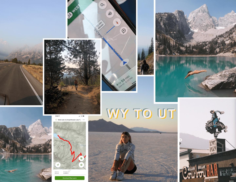 grand Tetons national park delta lake hike WYOMING + UTAH ROAD TRIP ITINERARY :: 10 DAYS