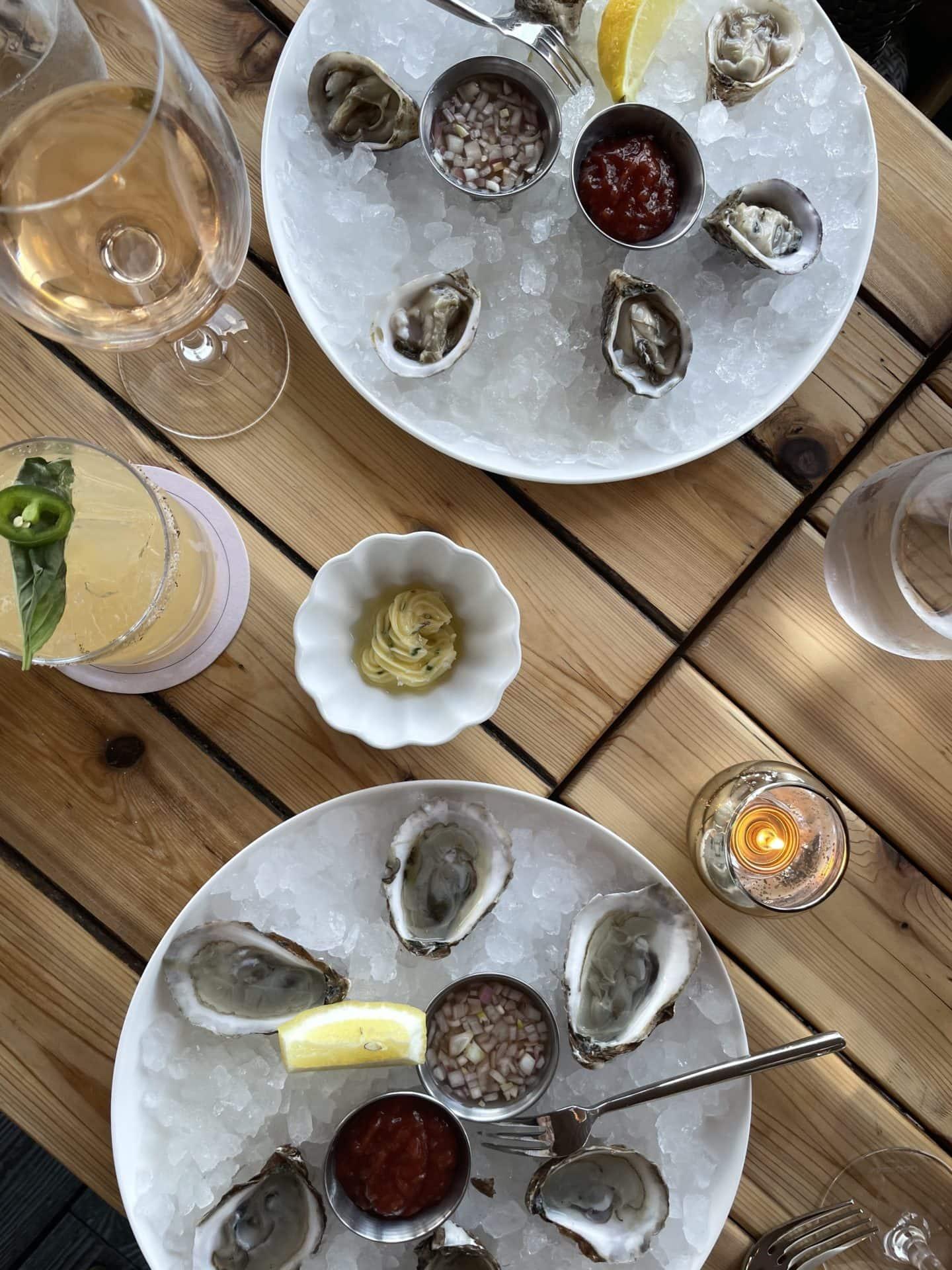 La Fin Montauk oysters