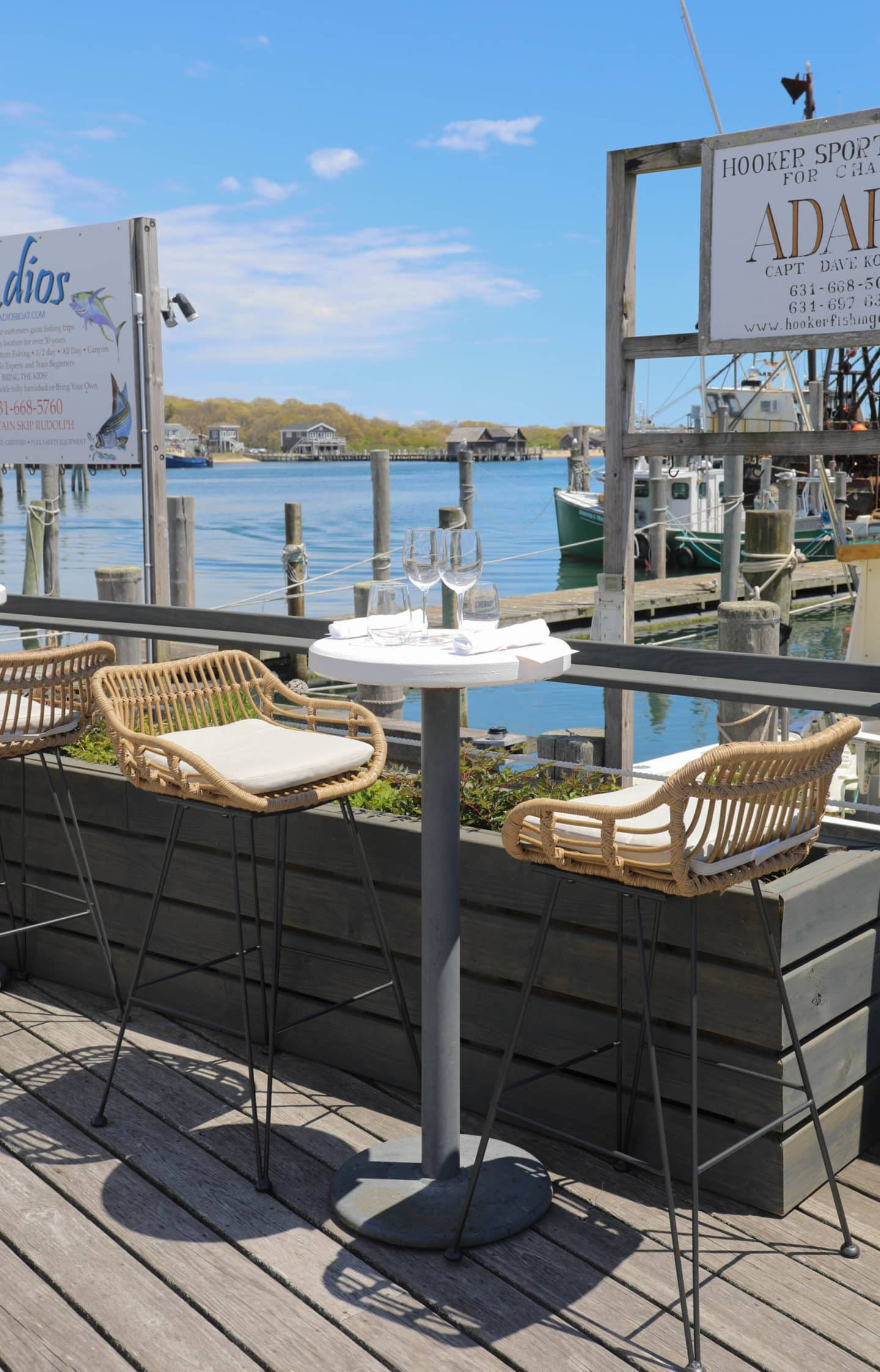 dock dining, on the water, dinner table